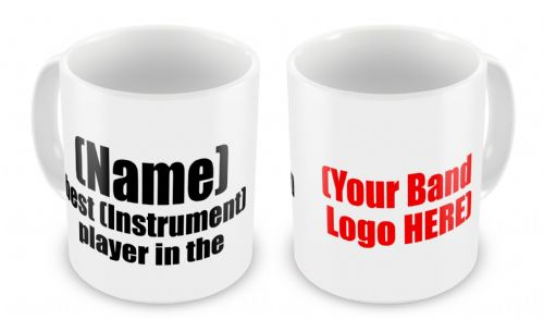 Personalised Band Logo Novelty Gift Mug